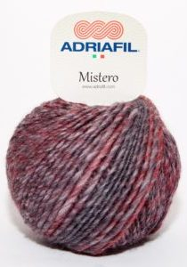 Adriafil Mistero Dark Red-Grey Mélange